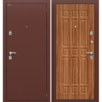 Входная металлическая дверь Браво Старт в цвете Антик Медь / П-8 (Янтарный Дуб) |Полотно 66 мм, Металл 1.2 мм, Вес 63 кг (Товар № ZF105488)