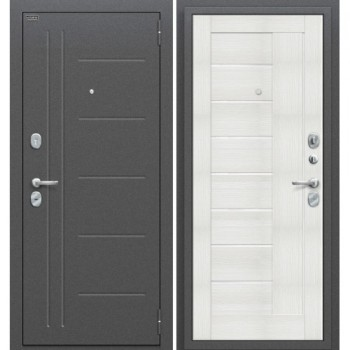 Входная металлическая дверь Браво Проф в цвете Антик Серебро / Bianco Veralinga |Полотно 85 мм, Металл 1.5 мм, Вес 65 кг (Товар № ZF58974)