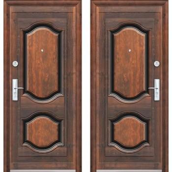 Входная металлическая дверь Браво К550-2-66 в цвете Бархат / Бархат |Полотно 66 мм, Металл 0.6 мм, Вес 29 кг  (Товар №  ZF7186)