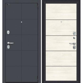 Дверь стальная Porta S-3 10.50 в цвете Graphite Pro/Nordic Oak остекленная. (Товар № ZF114015)