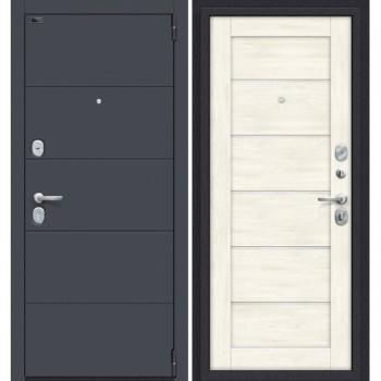 Дверь стальная Porta S-3 4.22 в цвете Graphite Pro/Nordic Oak остекленная. (Товар № ZF114018)