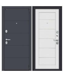 Дверь стальная Porta S-3 4.22 в цвете Graphite Pro/Virgin остекленная. (Товар № ZF114016)