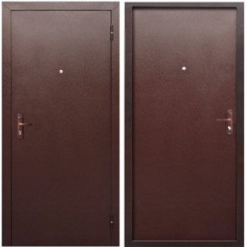 Входная металлическая дверь Феррони Стройгост 5 РФ в цвете Медный антик / Медный антик |Полотно 4,5 см, Металл 0.8 мм, Вес 30 кг (Товар № ZF107880)
