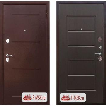 Входная металлическая дверь Феррони Гарда  в цвете Медный антик / Венге |Полотно 7,5 см, Металл 1.4 мм, Вес 62 кг (Товар № ZF104384)