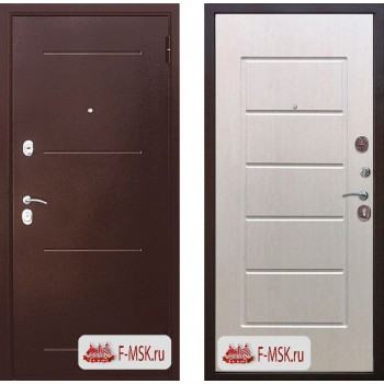 Входная металлическая дверь 7,5 см Гарда медный антик Белый ясень (Товар № ZF104383)