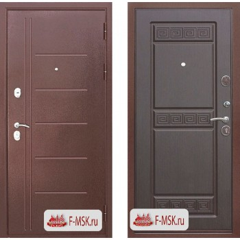 Входная металлическая дверь Феррони Троя в цвете Медный антик / Венге |Полотно 10 см, Металл 1.4 мм, Вес 77 кг (Товар № ZF104398)