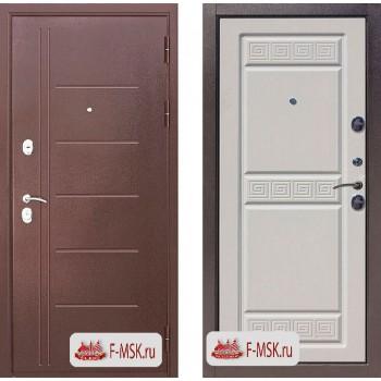 Входная металлическая дверь 10 см Троя медный антик Белый ясень (Товар № ZF104397)