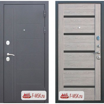 Входная металлическая дверь Феррони Троя в цвете Антик серебро / Дымчатый дуб |Полотно 10 см, Металл 1.4 мм, Вес 84 кг (Товар № ZF104401)