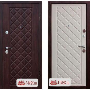 Входная металлическая дверь Феррони Kamelot Винорит в цвете Вишня темная / Беленый дуб |Полотно 9,5 см, Металл 1.4 мм, Вес 82 кг (Товар № ZF104406)