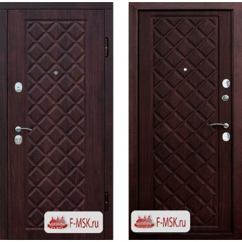 Входная металлическая дверь Феррони Kamelot Винорит в цвете Вишня темная / Вишня темная |Полотно 9,5 см, Металл 1.4 мм, Вес 82 кг (Товар № ZF104405)