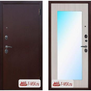 Входная металлическая дверь Феррони Царское зеркало MAXI в цвете Медный Антик / Белый ясень |Полотно 6 см, Металл 1.2 мм, Вес 60 кг (Товар № ZF104378)