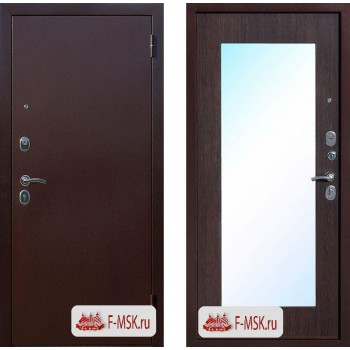 Входная металлическая дверь Феррони Царское зеркало MAXI в цвете Медный Антик / Венге |Полотно 6 см, Металл 1.2 мм, Вес 60 кг (Товар № ZF104379)