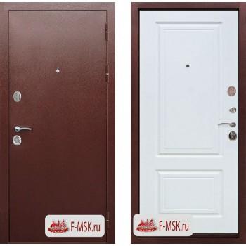 Входная металлическая дверь Феррони Толстяк РФ в цвете Медный антик / Белый ясень |Полотно 10 см, Металл 1.4 мм, Вес 70 кг (Товар № ZF104393)