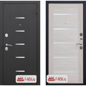 Входная металлическая дверь Феррони Гарда в цвете Чёрный муар / Лиственница беж, стекло Лакобель |Полотно 7,5 см, Металл 1.4 мм, Вес 70 кг (Товар № ZF104389)