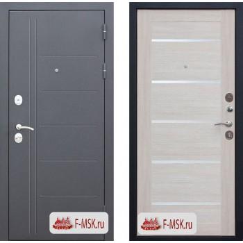 Входная металлическая дверь 10 см Троя Серебро Лиственница беж Царга (Товар № ZF104403)