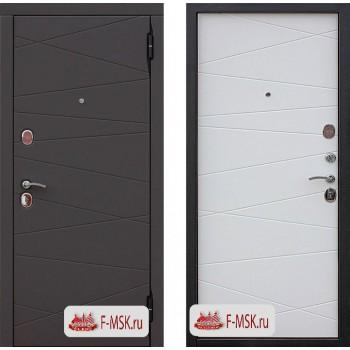 Входная металлическая дверь Феррони Верона в цвете Графит / Белый матовый |Полотно 9,5 см, Металл 1.4 мм, Вес 89 кг (Товар № ZF104407)