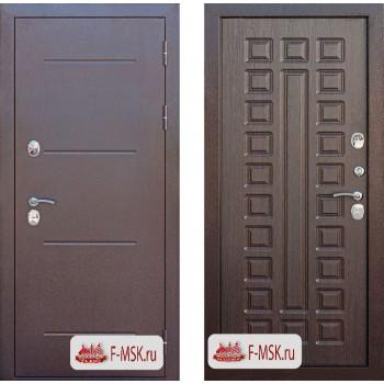 Входная металлическая дверь Феррони Isoterma в цвете Медный антик / Венге  Полотно 11 см, Металл 1.4 мм, Вес 82 кг (Товар № ZF104419)