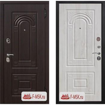 Входная металлическая дверь Феррони Флоренция Винорит в цвете Венге / Беленый дуб |Полотно 9,5 см, Металл 1.4 мм, Вес 80 кг (Товар № ZF104408)