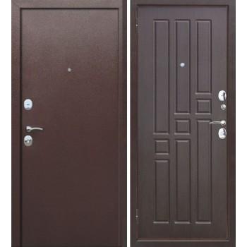 Входная металлическая дверь Феррони Гарда 8мм Внутреннее открывание в цвете Медный антик / Венге  |Полотно 6 см, Металл 1.2 мм, Вес 61 кг (Товар № ZF104439)