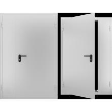 Дверь противопожарная металлическая двупольная EI 60, Дверь ДПМ-02 EI 60. Цвет: RAL: 7035 серый (Товар № ZF105569)