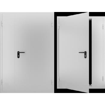 Противопожарная металлическая дверь двупольная EI 60, Дверь ДПМ-02 EI 60. Цвет: RAL: 7035 серый (Товар № ZF105569)