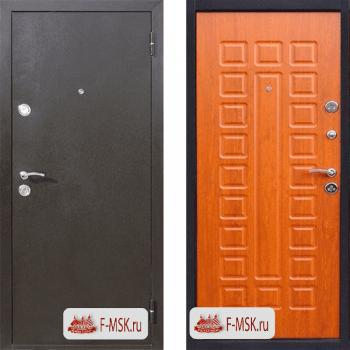 Входная металлическая дверь Цитадель Йошкар в цвете Медный антик / Золотистый дуб |Полотно 70 см, Металл 1 мм, Вес 54 кг (Товар № ZF104382)