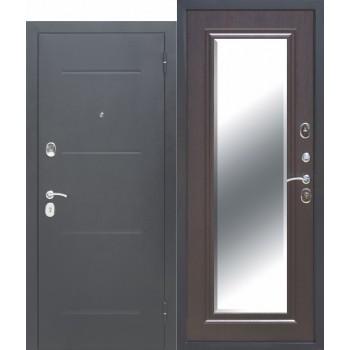 Входная металлическая дверь Феррони Гарда в цвете Антик серебро / Зеркало фацет Венге |Полотно 7,5 см, Металл 1.4 мм, Вес 67 кг (Товар № ZF165702)
