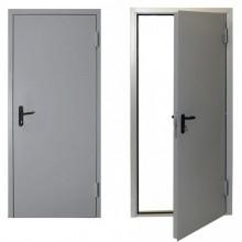 Дверь противопожарная металлическая однопольная EI 60. ДПМ-60-01 , Цвет - Металл (RAL 7035), Тип - Глухая (Товар № ZF136196)