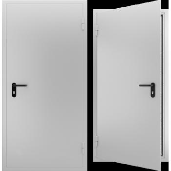 Противопожарная металлическая дверь однопольная EI 60. Дверь ДПМ-01 EI 60. Цвет: RAL: 7035 серый (Товар № 105567)