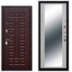 Входная металлическая дверь 12 см Сенатор зеркало Белый Ясень (Товар № ZF104416)