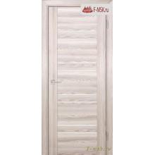 Межкомнатная дверь PROFILO PORTE. Модель PSK 1 лак белый , Цвет: ривьера крен экрю , Отделка: экошпон
