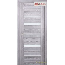 Межкомнатная дверь PROFILO PORTE. Модель PSK 2 лак белый , Цвет: ривьера грей , Отделка: экошпон