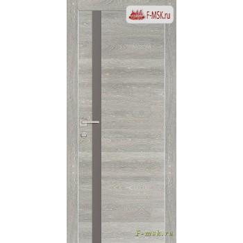 Межкомнатная дверь PROFILO PORTE. Модель PX 8 серый лак , Цвет: вяз эминем , Отделка: экошпон