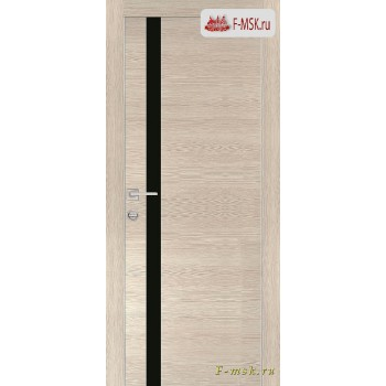 Межкомнатная дверь PROFILO PORTE. Модель PX 8 черный лак , Цвет: капучино горизонт , Отделка: экошпон