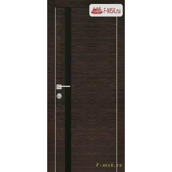 Межкомнатная дверь PROFILO PORTE. Модель PX 8 черный лак , Цвет: венге горизонт , Отделка: экошпон