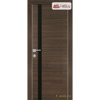 Межкомнатная дверь PROFILO PORTE. Модель PX 8 черный лак , Цвет: вяз эминем , Отделка: экошпон