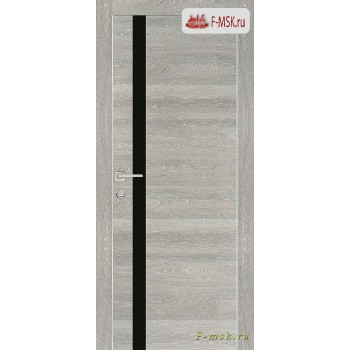 Межкомнатная дверь PROFILO PORTE. Модель PX 8 черный лак , Цвет: дуб грей патина , Отделка: экошпон
