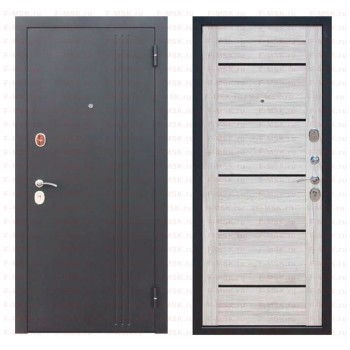 Входная металлическая дверь Феррони Нью-Йорк в цвете Чёрный муар / Дуб санремо светлый |Полотно 7,5 см, Металл 1.4 мм, Вес 69 кг (Товар № ZF165703)