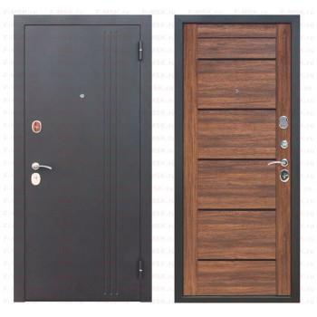 Входная металлическая дверь Феррони Нью-Йорк в цвете Чёрный муар / Дуб санремо темный |Полотно 7,5 см, Металл 1.4 мм, Вес 69 кг    (Товар № ZF165704)