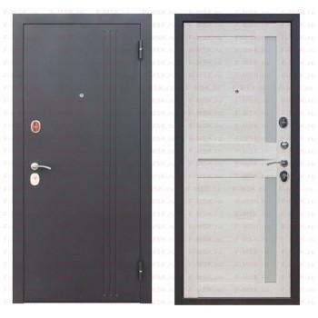 Входная металлическая дверь Феррони Нью-Йорк в цвете Чёрный муар / Каштан перламутр Царга |Полотно 7,5 см, Металл 1.4 мм, Вес 69 кг  (Товар № ZF165706)