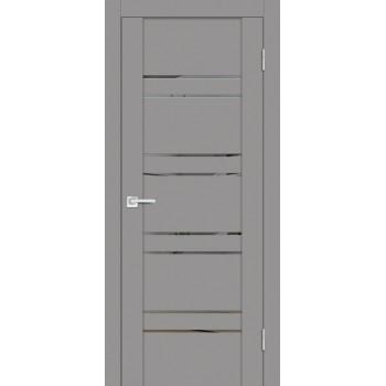 Дверь PST-1 серый бархат  SoftTouch Зеркало тонированное со стеклом