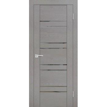 Дверь PST-1 серый ясень  SoftTouch Зеркало тонированное со стеклом
