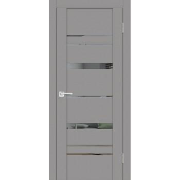 Дверь PST-2 серый бархат  SoftTouch Зеркало тонированное со стеклом