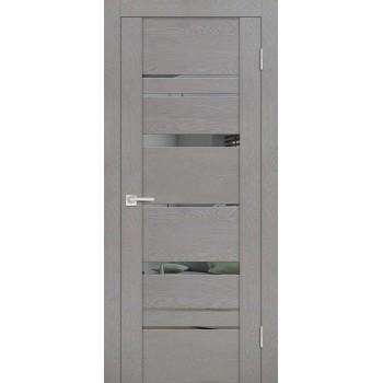 Дверь PST-2 серый ясень  SoftTouch Зеркало тонированное со стеклом