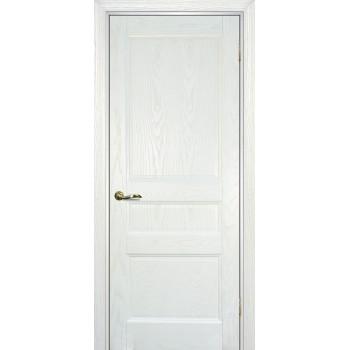 Дверь Вайт 02 Ясень айсберг  Шпон глухое