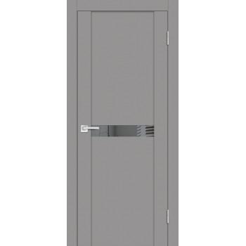 Дверь PST-3 серый бархат  SoftTouch Зеркало тонированное со стеклом