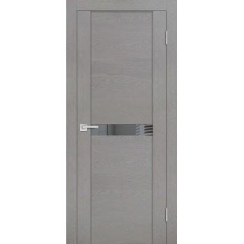 Дверь PST-3 серый ясень  SoftTouch Зеркало тонированное со стеклом