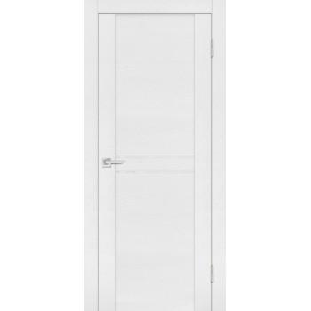 Дверь PST-4 белый ясень  SoftTouch белоснежный лакобель со стеклом