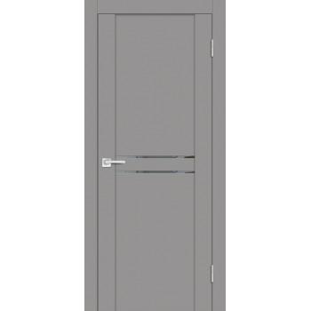 Дверь PST-4 серый бархат  SoftTouch Зеркало тонированное со стеклом