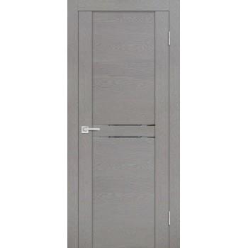 Дверь PST-4 серый ясень  SoftTouch Зеркало тонированное со стеклом